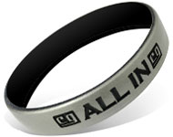 Custom Color Coat Silicone Wristbands