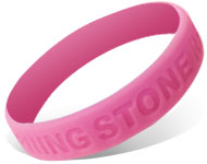 Custom Debossed Silicone Wristbands